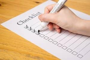 Etablissez une liste des tâches à effectuer