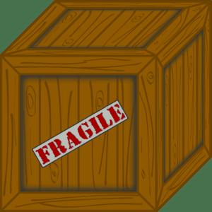 Avec le garde-meuble, les biens sont scellés dans une caisse en bois